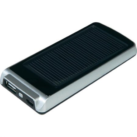 Xtrom AM113 Mini - Baterie Externa Cu Incarcare Solara 1200 MAH, Platinum  Negru