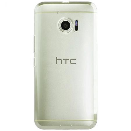 Yuppi Love Tech - Husa capac spate transparenta + Folie de protectie pentru HTC 10