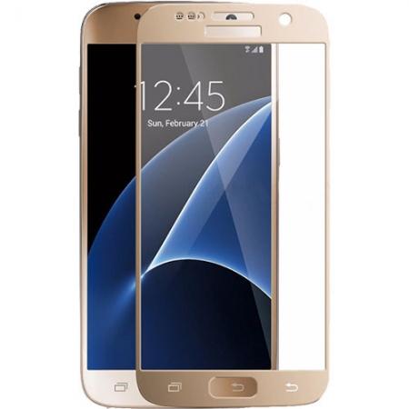 Yuppi Love Tech - Sticla securizata pentru Samsung Galaxy S7, Full Body, 3D, 9H, Auriu