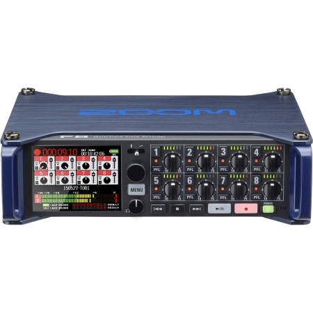 Zoom F8 - Recorder audio profesional cu 8 canale XLR/TRS
