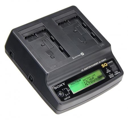 Alimentator Sony AC-SQ950B Dual pentru seria NP-FM/NP-QM cu display