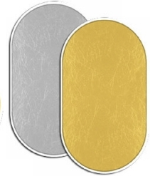 Fancier blenda 2in1, Gold/Silver, 102x153cm
