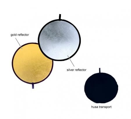 Fancier blenda 2in1, Silver/Gold, 56cm