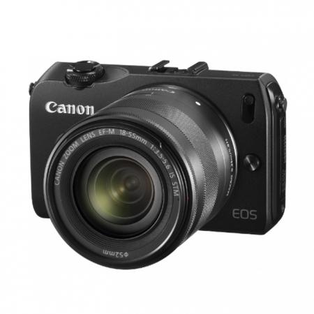 Alegerea echipamentului fotografic, în funcție de buget și necesități.    Episodul 3. Aparate mirrorless, rangefinder şi pe film Canon-eos-m-18-55mm-is-stm-negru-blitz-90ex-inclus-23333-1