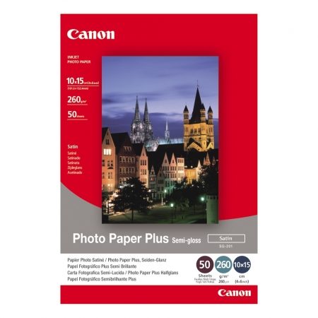 Canon Photo Paper Plus Semi-Gloss Satin 10x15 50 coli - 260g/mp (CANSG201s)