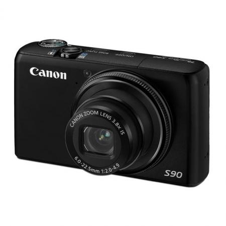 Canon PowerShot S90 IS Negru - 10 Mpx, Zoom Optic 3.8x, LCD 3.0