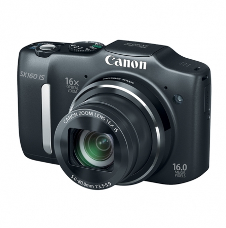 Canon Powershot SX160 IS Negru - 16mpx, zoom optic 16x, LCD 3