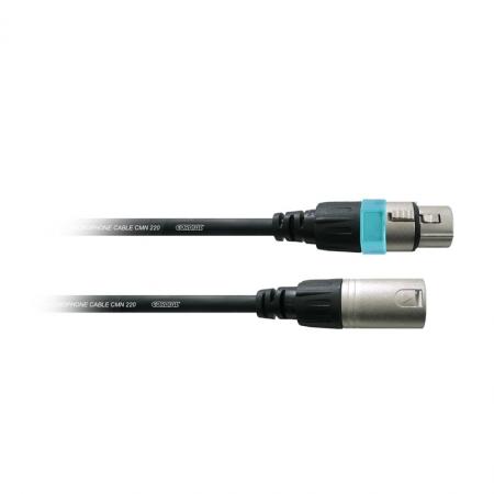 Cordial CCM 1 FM - cablu 1 metru XLR pentru microfon, mufe mama/tata