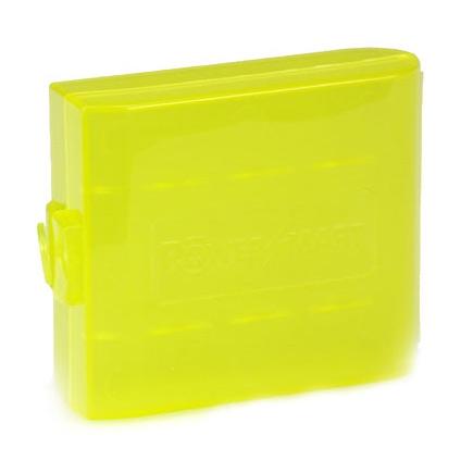 Cutie de plastic pentru 4 acumulatori R6 (AA) - galben