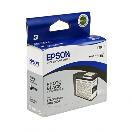 Epson T5801 - Cartus Imprimanta Photo Black pentru Epson Stylus Pro 3800