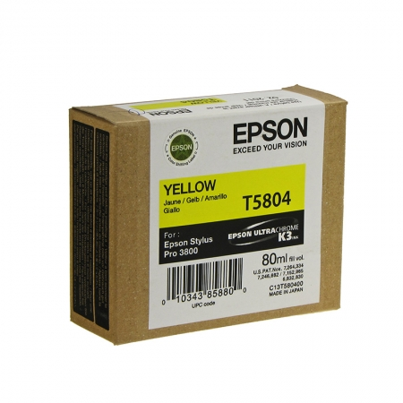 Epson T5804 - Cartus Imprimanta Photo Yellow pentru Epson Stylus Pro 3800