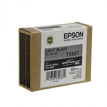 Epson T5807 - Cartus Imprimanta Photo Light Black pentru Epson Stylus Pro 3800