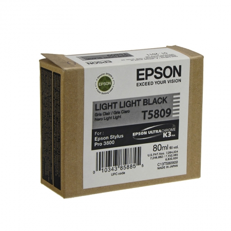 Epson T5809 - Cartus Imprimanta Photo Light Light Black pentru Epson Stylus Pro 3800