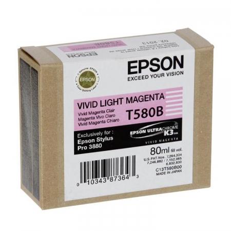 Epson T580B - cartus Vivid Light Magenta (Stylus PRO 3880)