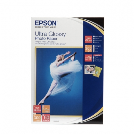 Epson Ultra Glossy hartie foto 10x15 - 50 coli - 300g/mp (S041943)
