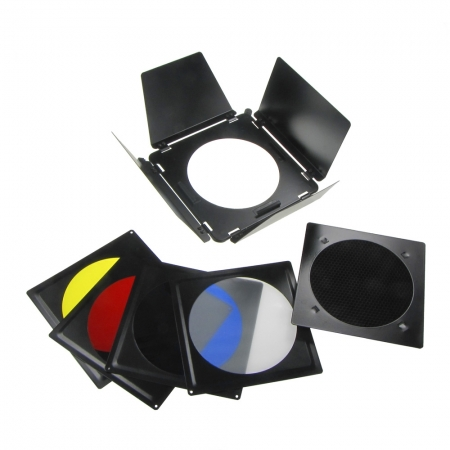 Fancier A-110 - set voleti/grid/filtre pentru reflector 15cm