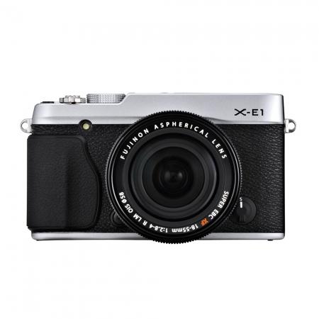 Fujifilm X-E1 argintiu kit cu 18-55mm F2.8-4 R LM OIS