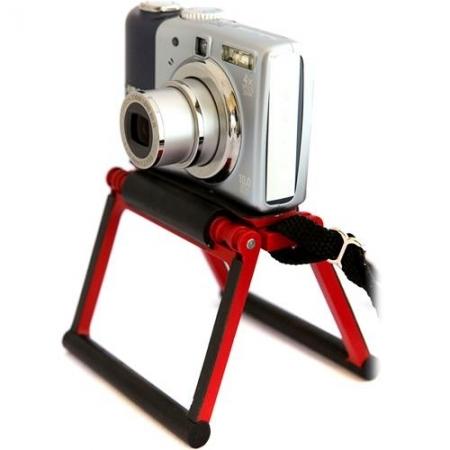 Gary Fong Flip-Cage rosu - Stand pentru aparate foto compacte