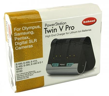 Incarcator dublu pentru 1 sau 2 acumulatori Li-Ion tip PS-BLS1,PS-BLE1,PS-BLM1,SLB-1674,D-Li50 ,model Hahnel Twin V Pro pentru Olympus,Samsung,Pentax.