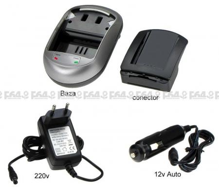 Incarcator pentru acumulatori Li-Ion tip NP-80 pentru Casio. ( cod AVP140 ).