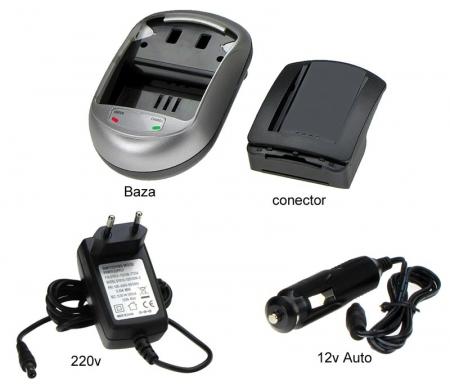 Incarcator pentru acumulatori tip NP-60 pentru aparate foto HP. ( cod AVP60 ).