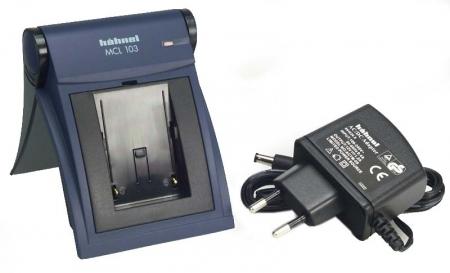 Incarcator pentru aproape toate modelele de acumulatori Li-Ion pentru camerele video Samsung.Cod Hahnel MCL103 Samsung