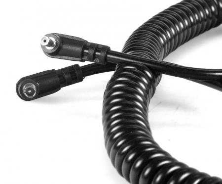 Kaiser #1450 - cablu prelungirie sincron blitz  PC-PC spiralat, mufe mama+tata