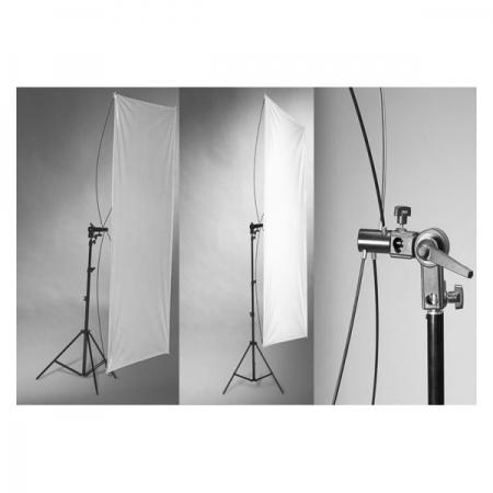 Kast - panou reflexie Silver/White 90x180cm cu suport si stativ