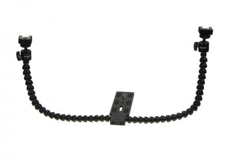 KDFM-1 adaptor cu brate flexibile pentru doua blitzuri