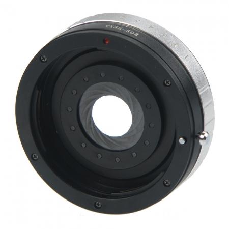 KentFaith For EOS-NEX(A) - inel adaptor cu diafragma Canon EOS - Sony E Nex