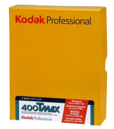 Kodak Professional TMAX 400 - plan-film negativ alb-negru (ISO 400, format 4x5, 50coli)