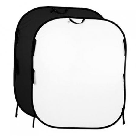 Lastolite Colapsible Background Black/White- LA5621 1.5x1.8m -  fundal panza portabil