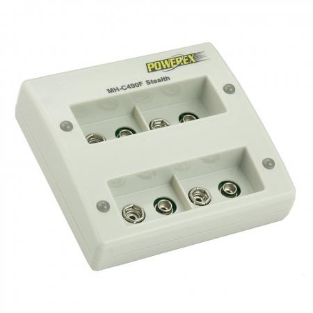 Maha MH-C490F - incarcator inteligent pentru 4 acumulatori Ni-Mh de 9V, timp de incarcare 2h