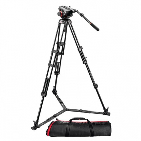 Manfrotto 546GBK + cap 504HD - kit trepied video