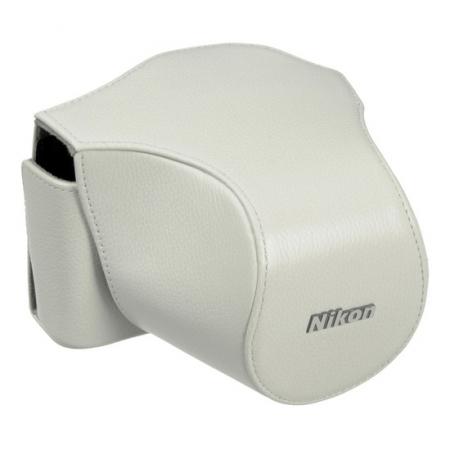 Nikon CB-N1000SB alb - toc piele pentru Nikon V1 + 10-30mm