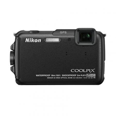 Nikon Coolpix AW110 negru - aparat foto subacvatic, 16 Mpx, Wi-Fi