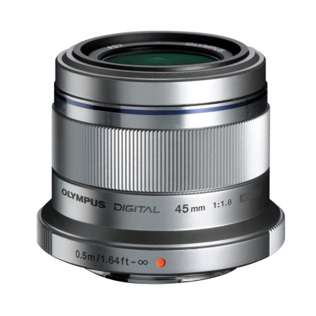 Olympus M.Zuiko Digital 45mm f/1.8 MSC argintiu - montura Micro 4/3