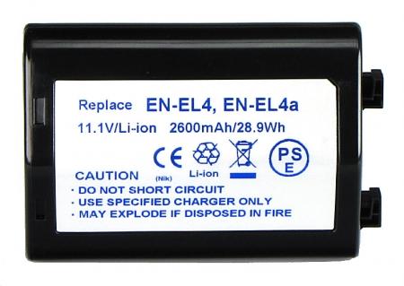 Power3000 PL165B.084 - acumulator tip EN-EL4 pentru Nikon D2X, D2H, 2600mAh