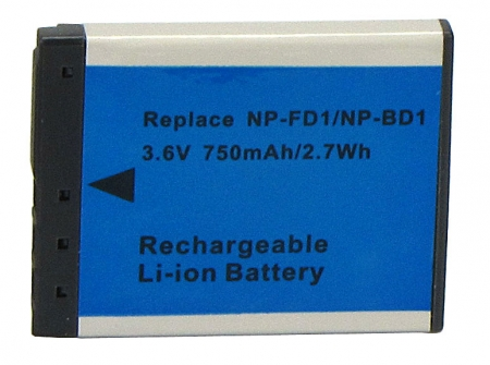 Power3000 PL174D.532 - Acumulator tip NP-FD1 / NP-BD1 pentru camere foto Sony, 750mAh