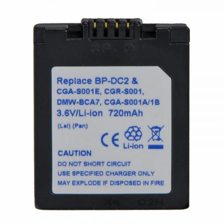 Power3000 PL17D.533 - acumulator tip CGA-S001A/DMW-BCA7 pentru Leica/Panasonic 720mAh