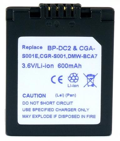 Power3000 PL17D.534 - acumulator tip CGA-S001A / DMW-BCA7 pentru Panasonic, 600mAh