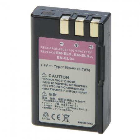 Power3000 PL196B.053 - acumulator tip EN-EL9 /EN-EL9A pentru Nikon, 1150mAh