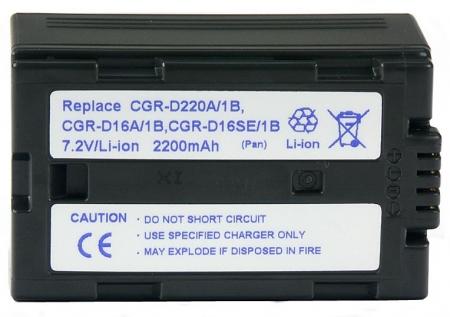 Power3000 PL220D.750 - acumulator tip CGR-D16,CGR-D220 pentru Panasonic, 2200mAh