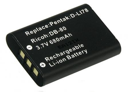 Power3000 PL317B.637 - acumulator Li-ion tip DB-80 pentru Ricoh, 680mAh