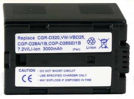 Power3000 PL320D.853 - acumulator tip CGR-D320, CGR-D28 pentru Panasonic, 3000mAh