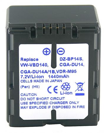 Power3000 PL414D.533 - acumulator tip VBD140,CGA-DU14,CGR-DU14 pentru Panasonic, 1440mAh