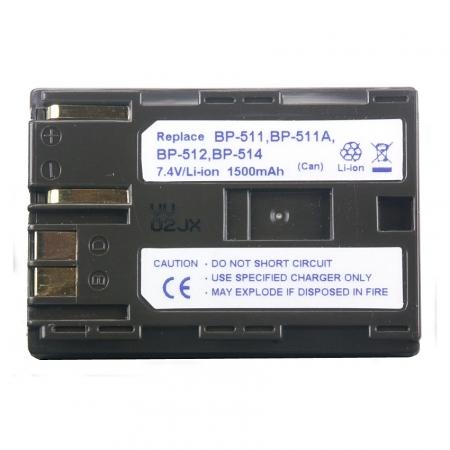 Power3000 PL511W.853 - acumulator tip BP-508 / BP-511 / BP-511A / BP-512 / BP-514 pentru Canon, 1500mAh