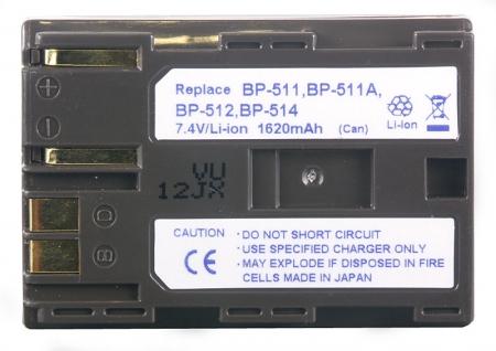 Power3000 PL511W-855 - acumulator tip Canon BP-508 BP-511 BP-511A BP-512 BP-514, 1620mAh
