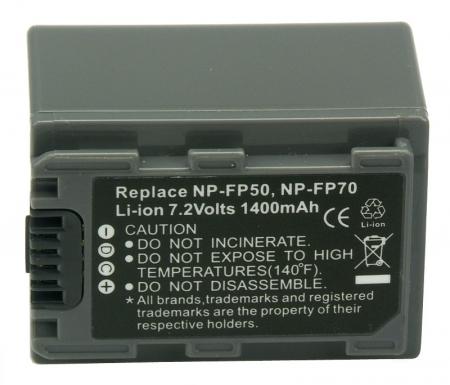 Power3000 PL57G.142 - acumulator tip Sony NP-FP50, NP-FP70, 1400mAh