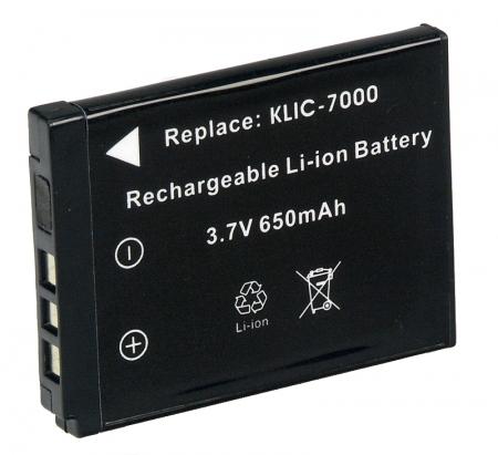 Power3000 PL755B.334 - acumulator tip KLIC -7000 pentru Kodak, 650mAh